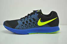 Mens Nike Air Zoom Pegasus 31 Running Shoes Size 9 Black Blue Volt 652925 002
