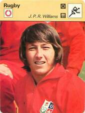FICHE CARD: JPR Williams John Peter Rhys Williams  Rugby Union RUGBY à XV 1970s