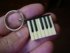 (M-322-B) mini Piano KEYBOARD Keychain key chain ring JEWELRY board love pianos