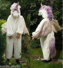 White Horse Unicorn / Pegasus Halloween Costume kid's size S ( 2-3 ), faux fur