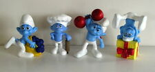 Set 4 COLLECTIBLE Peyo SMURF figure figurines Greedy Hefty Jokey Baker #4
