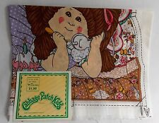 Vtg 1983 Cabbage Patch Kids Fabric Panel  #717 Heartline Girl Telephone