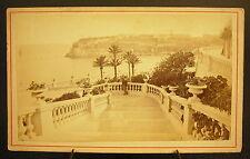 Photo c 1900 Monaco vue des terrases de Monte-Carlo Photographie ancienne Degand