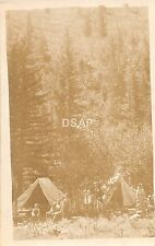 B95/ Grand Junction Colorado Co Real Photo RPPC Postcard c1910 Tent Camping