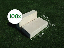 100 Mattoni in Pietra di Trani 20x10x5cm blocchi per ornamento aiuole e giardino