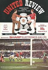 Football Programme - Manchester United v Chelsea - FA Cup - 30/1/1988