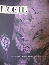REVUE ART L'OEIL N° 39 de 1958 VISCONTI SFORZA POLIAKOFF ART JAPONAIS AEROPORT
