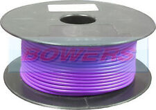 50M METRE ROLL/REEL PURPLE SINGLE CORE CABLE/WIRE 17.95AMP 28 STRAND 2mm 2.00mm²