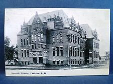 Postcard SD Yankton Masonic Temple 1915
