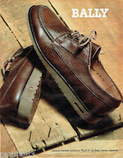 PUBLICITE ADVERTISING 056  1983  Bally chaussures homme collection Rush 91