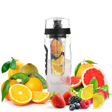 Ivation 32-Oz Fruit Infusing Infuser Water Sports Health Juice Bottle Flip Lid