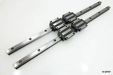 HSR15A2UU+460mm Used THK Linear Bearing 2Rail 4Block LM Guide NSK CNC Route