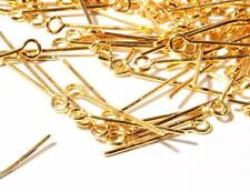(1250) 18mm vtg Bohemian gold tone jewelry chandelier loop head connector pins