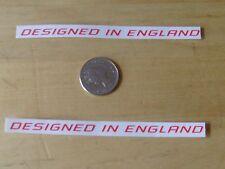 Progettato in Inghilterra MTB/Bicicletta Decalcomanie-Una coppia-rosso-consegna gratuita in tutto il mondo