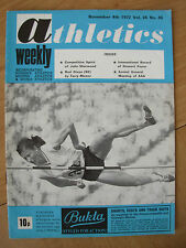 ATHLETICS WEEKLY NOVEMBER 4th 1972 YORDANKA BLAGOYEVA BULGARIA HIGH JUMP