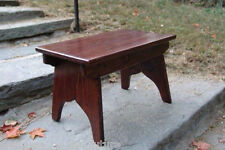 """11.75"""" Extra tall Handcrafted Vintage Style Wood Step Stool Bedside choose stain"""
