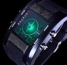 Excellanc Digitaluhr Herren Uhr Armbanduhr Ziffern - Beleuchtung - Schwarz  B