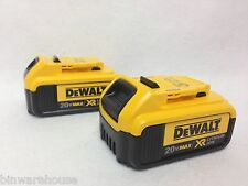 New 2-Pack DEWALT DCB204 20V MAX XR 4.0 Ah Lithium-Ion Batteries - 2016