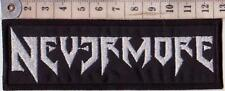 NEVERMORE EMBROIDERED PATCH PANTERA BIOHAZARD CROWBAR ANTHRAX Metal Negro