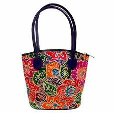 Leather Handmade Tote Bag Indian Shantiniketan Boho Purse Small Shopper Girls