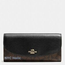 New Coach F54022 F54009 Slim Envelope Wallet Signature Crossgrain Leather NWT