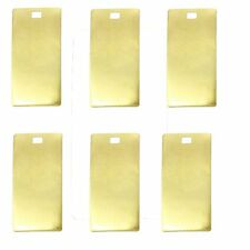 Rockin Beads 25 Curved Brass Metal Stamping Blanks Rectangle Drop 34x16mm
