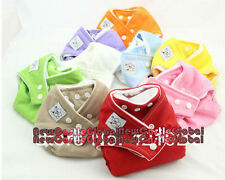 10 pieces one-size fit reusable washable cloth diapers all in one cover diapers