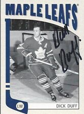 Toronto Maple Leafs DICK DUFF Signed Card