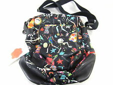 JULIE APPLE CARRY ME WOMENS' CANVAS CROSS-BODY, SPACE AGE,BLACK BAG, ONE SIZE
