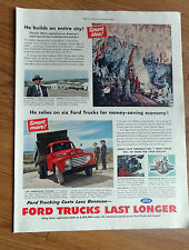 1950 Ford Trucks Ad  Charlie White New Mexico's Carlsbad Caverns