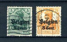 (B) OC12/13 gestempeld 1916 - Duitse zegels met opdruk Belgien