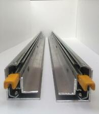 500MM DRAWER RUNNER/FRIDGE SLIDE 125KG LOCKING WITH ATTACHED ANGLES