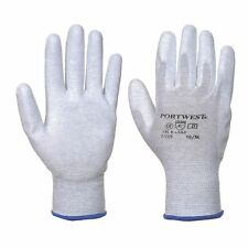 Nuevo Portwest Antiestática Pu Palm anit-static Pu los guantes Palma grey/white Grandes