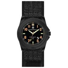 Smith & Wesson Black Rubber Strap Tritium Dial Soldiers Watch - Stainless Steel