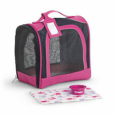 American Girl MY AG PET CARRIER SET for Doll Travel Suitcase Pets Black NEW*