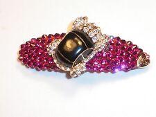 Swarovski Crystals & Crystal CAR Betsey J. Barrette Pink ZOOM ZOOM!