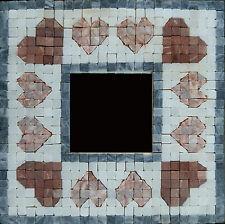 Mosaic mirror kit, heart design, with natural stone tiles - Martin Cheek Design