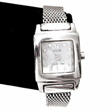ECCLISSI Women's Sterling Silver Mesh Link Bracelet White Dial Ladies Watch