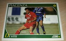 CARD SCORE 1992 PIACENZA DE VITIS CALCIO FOOTBALL SOCCER ALBUM