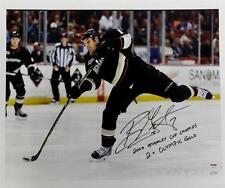 "Ryan Getzlaf Signed ""Stanley Cup Champ 2x Olympic Gold"" 16x20 Canvas /15 PSA COA"