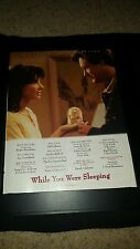 While You Were Sleeping Rare Academy Awards Promo Poster Ad Framed!