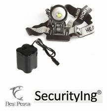 SECURITYING - LAMPADA FRONTALE 516 Zoom - LED CREE tipo XM-L T6 - 1200 lumen