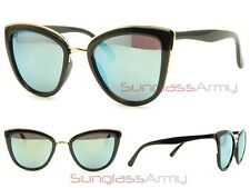 Black w Green Lens MY GIRL SUNGLASSES women cateye oversized australia