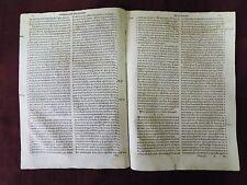 Original Leaves from Granada's Libro De La Oracion - 1588