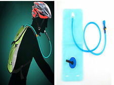 2L Bicycle Bike Cycling Mouth Water Bladder Bag Hydration Camping Sports Blue DE