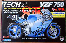 1987 Yamaha 750 YZF Team Tech 21 Martin Wimmer Kevin Magee, 1:12, Fujimi 141329