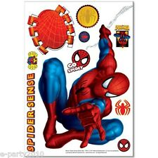 SPIDER MAN MOVEABLE DECORATIONS (10pc) ~ Superhero Birthday Party Supplies Deco