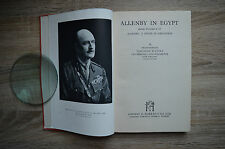 Allenby in Egypt by Field-Marshall Viscount Wavell 1943 1st Edition