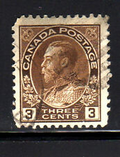 CANADA #109  3  CENT  KING GEORGE V  ADMIRAL ISSUE   USED   b