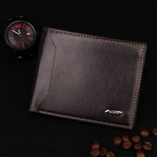 Men Lichee Pattern Bifold Business Leather Wallet Card Holder Coin Purse Кошелек
